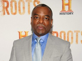 """LeVar Burton attends the premiere screening of """"Night One"""" of the four night epic event series, """"Roots,"""" hosted by HISTORY at Alice Tully Hall in New York City, on May 23, 2016."""