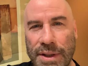 John Travolta thanks fans on fi…