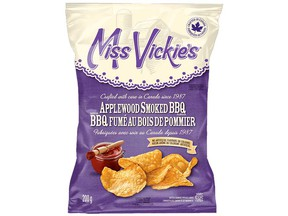 Miss Vickie's Applewood Smoked BBQ Kettle Cooked Potato Chips (200 g) are among the products recalled by the Canadian Food Inspection Agency