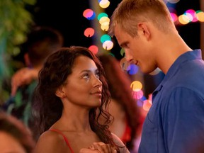 "Kat Graham and Alexander Ludwig star in Netflix's ""Operation Christmas Drop."""