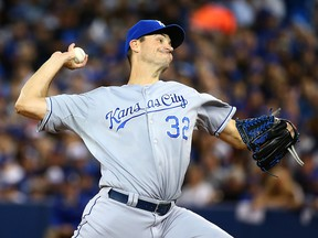 Kansas City Royals starting pitcher Chris Young (32) delivers to the plate