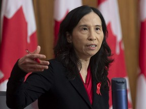 Chief Public Health Officer Theresa Tam responds to a question during a news conferencein Ottawa, Tuesday Dec. 1, 2020.