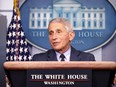 Dr. Anthony Fauci speaks during a White House Coronavirus Task Force press briefing at the White House on November 19, 2020 in Washington.