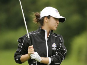 Andrea Lee, from the United States, during second round action at the Toronto 2015 Pan Am Games Golf at Angus Glen Golf Course on Friday July 17, 2015.