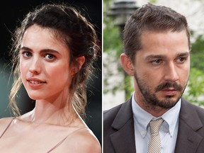 Margaret Qualley and Shia LaBeouf.