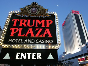 The Trump Plaza hotel and casino in Atlantic City, New Jersey, is pictured in May 2007.