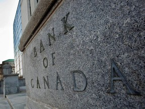 In this file photo taken on April 12, 2011, the Bank of Canada building in Ottawa.