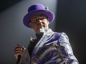 Gord Downie of the Tragically Hip performs at the Air Canada Centre in Toronto on Wednesday, Aug. 10, 2016.