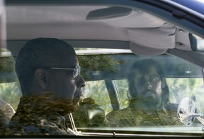 Denzel Washington and Jared Leto in a scene from 'The Little Things'.
