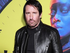 """Trent Reznor attends the premiere of HBO's """"Watchmen"""" at The Cinerama Dome on October 14, 2019 in Los Angeles, Calif."""