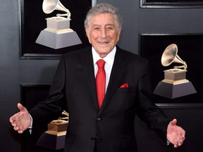 Recording artist Tony Bennett attends the 60th Annual Grammy Awards at Madison Square Garden in New York City, Jan. 28, 2018.