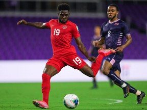 Alphonso Davies and Team Canada defeated Bermuda 5-1 on Saturday. Jeremy Reper/Canada Soccer