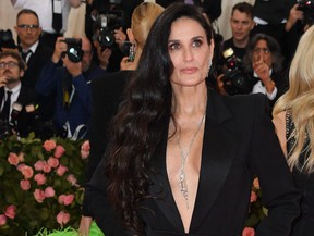 Demi Moore arrives for the 2019 Met Gala at the Metropolitan Museum of Art on May 6, 2019, in New York.