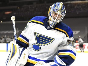 The Blues have signed goalie Jordan Binnington to a six-year contract extension on Thursday, March 11, 2021.