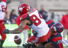 Linebacker Hénoc Muamba (right), the CFL's top Canadian in 2019, adds another high-end player the Argos have acquired this off-season.John Mahoney/Postmedia Network