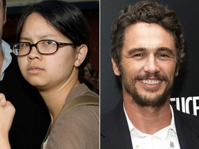 Charlyne Yi and James Franco are pictured in file photos.