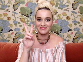 Katy Perry speaks during SHEIN Together Virtual Festival to benefit the COVID-19 Solidarity Response Fund for WHO powered by the United Nations Foundation in Los Angeles, May 9, 2020.