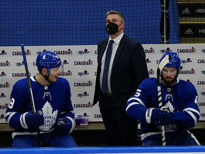 The eight games remaining may be meaningless in the standings, but for Maple Leafs head coach Sheldon Keefe, they will give him a chance to find the best path forward for his club before the playoffs. USA TODAY