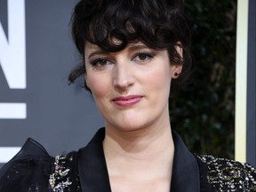 British actress Phoebe Waller-Bridge arrives for the 77th annual Golden Globe Awards on Jan. 5, 2020, at The Beverly Hilton hotel in Beverly Hills, Calif.