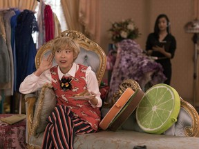 Awkwafina as Goh Peik Lin in a scene from Crazy Rich Asians.