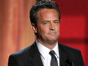 Actor Matthew Perry speaks onstage during the 64th Annual Primetime Emmy Awards at Nokia Theatre L.A. Live on September 23, 2012 in Los Angeles, California.