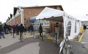 As many as 1,500 people were vaccinated with Pfizer-BioNTech COVID-19 vaccine on Wednesday April 21, 2021 at the Humber River Hospital Vaccination Clinic held at Downsview Arena.