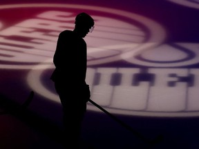 The Edmonton Oilers Connor McDavid (97) prior to the start of the team's game against the Vancouver Canucks at Rogers Place, in Edmonton Saturday May 8, 2021.