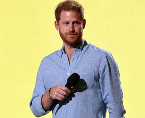 The woke prince. Prince Harry speaks onstage during Global Citizen VAX LIVE: The Concert To Reunite The World at SoFi Stadium in Los Angeles.