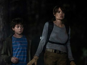 """Finn Little and Angelina Jolie star in Warner Bros. Pictures' """"Those Who Wish Me Dead."""""""