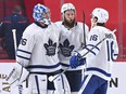 The Leafs need a few more playoff-proven types such as Jake Muzzin (middle), goalie Jack Campbell to prove he can hold the fort next year, and star winger Mitch Marner to return bigger and stronger to handle the playoff demands better than he did against the Habs.
