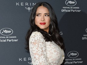Salma Hayek Pinault attends Kering Talks Women In Motion At The Cannes Film Festival at the Majestic Barriere on May 13, 2018 in Cannes, France