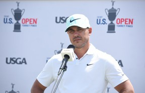 Brooks Koepka speaks after a practice round for this week's U.S. Open.