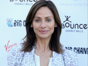 Natalie Imbruglia attends a photocall as the Virgin STRIVE challenge sets off at 02 Arena on Aug. 7, 2014 in London.