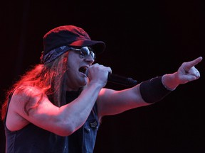Johnny Solinger of Skid Row performs on stage during the Day 1 of the Pentaport Rock Festival on Aug. 2, 2013 in Incheon, South Korea.