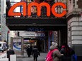 An AMC theatre is pictured amid COVID-19 pandemic in the Manhattan borough of New York City, Jan. 27, 2021.