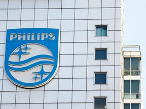 Logo of Dutch technology company Philips is seen at its company headquarters in Amsterdam, Netherlands, Jan. 29, 2019.
