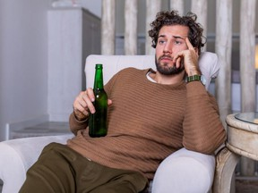 A drunken husband is sucking the life out of his wife.