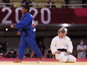 Jessica Klimkait, the world champion judoka from Whitby, Ont., somehow shelved that gut-wrenching moment, put her game face back on and earned a bronze medal.