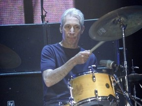 Charlie Watts and the Rolling Stones perform at the Air Canada Centre in Toronto in December 2005.