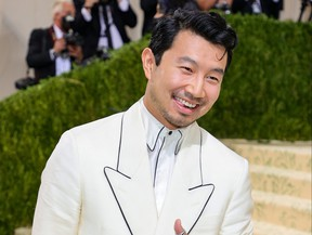 Simu Liu attends The 2021 Met Gala Celebrating In America: A Lexicon Of Fashion at Metropolitan Museum of Art on Sept. 13, 2021 in New York City.