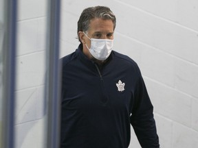 Maple Leafs president Brendan Shanahan at training camp in Toronto on July 13, 2020.