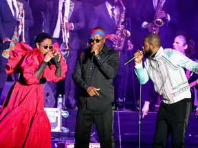 The reunited Fugees performed at Pier 17 in NYC in support of Global Citizen Live, a once-in-a-generation global broadcast event calling on world leaders to defend the planet and defeat poverty, airing on Sept. 25. The show kicks off the Fugees 2021 World Tour.