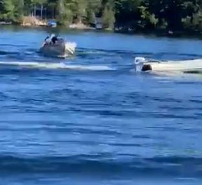 On Monday, the OPP East Region posted on social media how two officers managed to take control over a motoring boat on a lake with no one on board.