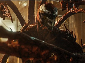 Woody Harrelson plays Carnage in Venom: Let There Be Carnage.