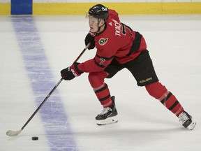 Winger Brady Tkachuk is not yet in training camp with the Senators. He remains an unsigned restricted free agent, although talks have been continuing.