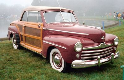 Owners of the 1947 Ford Sportsman faced higher costs and maintenance because of the use of wood panels.