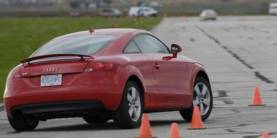 An Audi TT goes through testing in 2007.