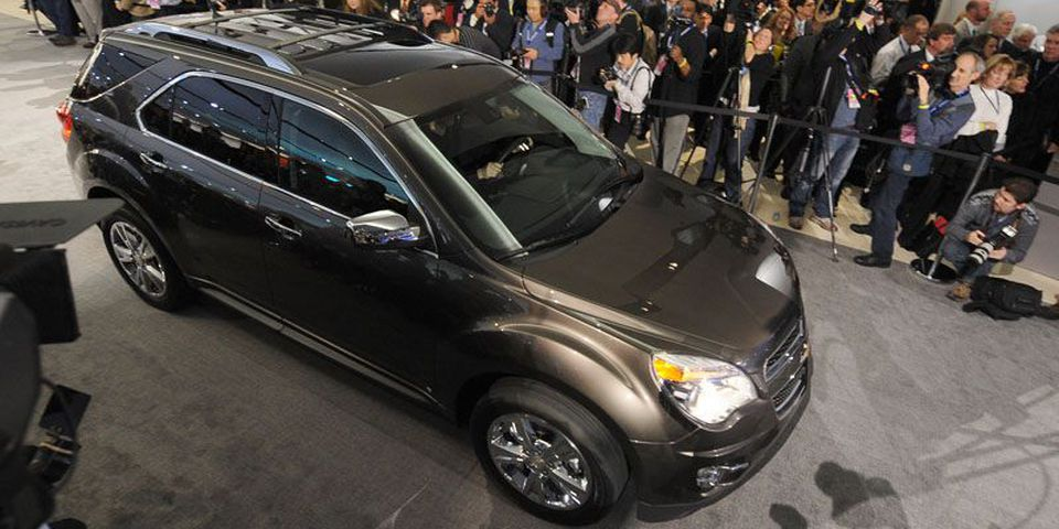 The Chevrolet Equinox rolls out during a press preview.