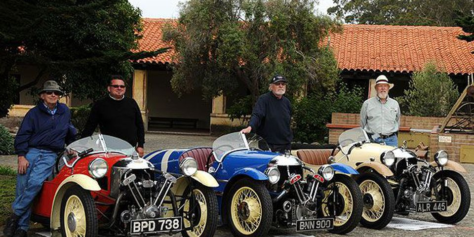 The 2009 Pebble Beach Tour d'Elegance presented by Rolex included a route for Morgan motor cars. Tracing along Carmel Bay, drivers stopped at historic Carmel Mission for a special reception and centennial celebration for Morgan.