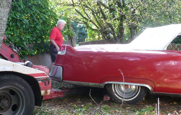 Alyn Edwards discovered a 1956 Cadillac Coupe de Ville and a 1955 convertible in the same garage in B.C.